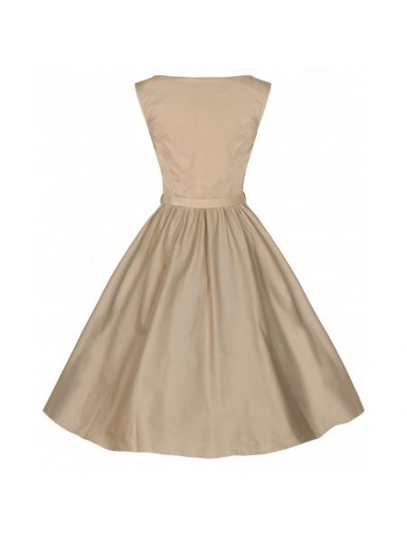 Šaty Lindy Bop vintage pískové barvy