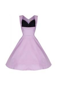Šaty Lindy Bop vintage světle fialové