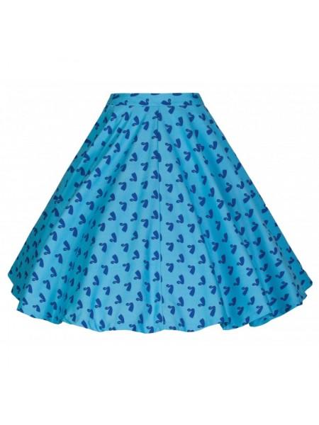 Sukně Lindy Bop modrá s motivem labutí