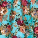 Sukně Lindy Bop modrá s květinovým vzorem