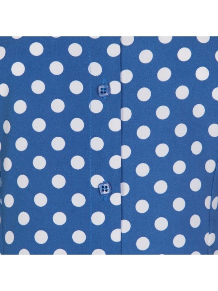 Modrý top Lindy Bop s bílým puntíkem