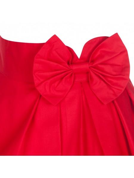 Sukně Lindy Bop červená s mašlí