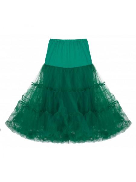 Spodnička k šatům Lindy Bop tmavě zelená