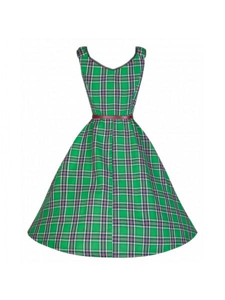 Šaty Lindy Bop zelené káro