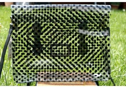 Kabelka LYDC průhledná s černými puntíky
