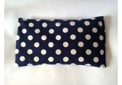 Nahřívací polštářek tmavě modrý s bílým puntíkem