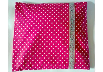 Nahřívací polštářek růžový s bílými puntíky