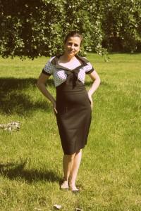 Šaty Lindy Bop černobílé s puntíkem